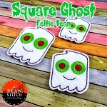 Square Head Ghost - Feltie Bean - THREE Sizes INCLUDED! BONUS Multis!!!